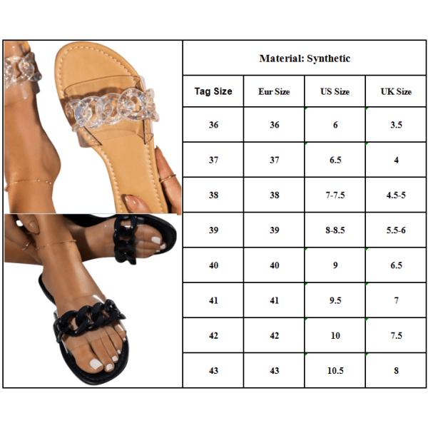 Dam Slip On Flops Sandaler Tie Dye Sommarskor Svart