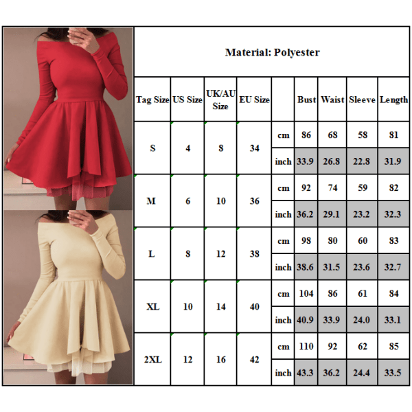 Lady Fashionable Puff Skirt Short Skirt Long Sleeves Irregular Green 2XL
