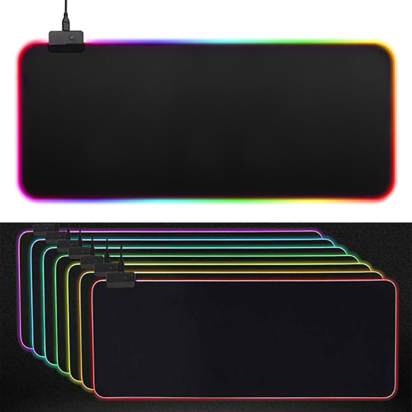 Large LED Lighting Gaming Mouse Pad Mat As pics