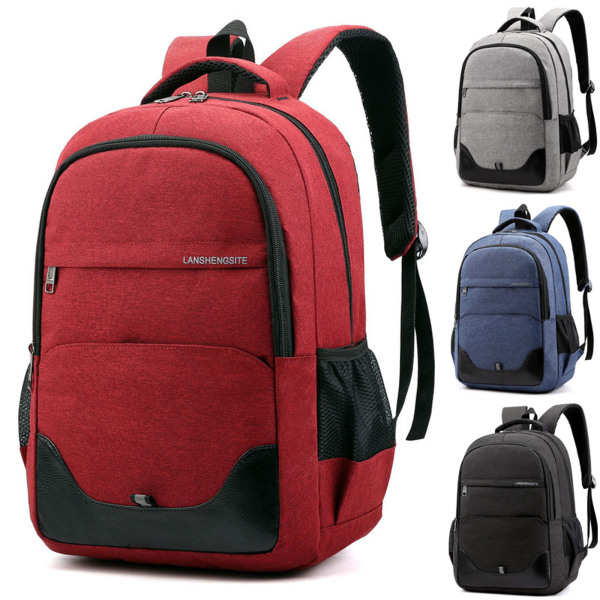 Men Oxford Cloth Backpack Large-capacity Fashion Schoolbag Black