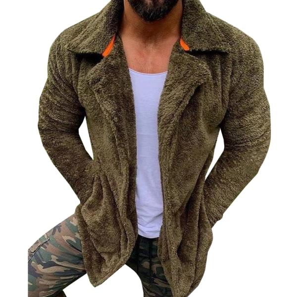 Kavajjacka för män Långärmad jacka med blixtlås varm vinter