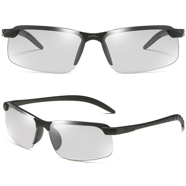 Män Fotokromatiska Solglasögon Som Kör Sportglasögon Black Frame Black Lenses 1 Pack
