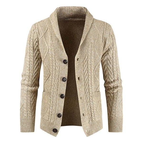 Enkelbredd herrstickad kofta tröja jacka för män