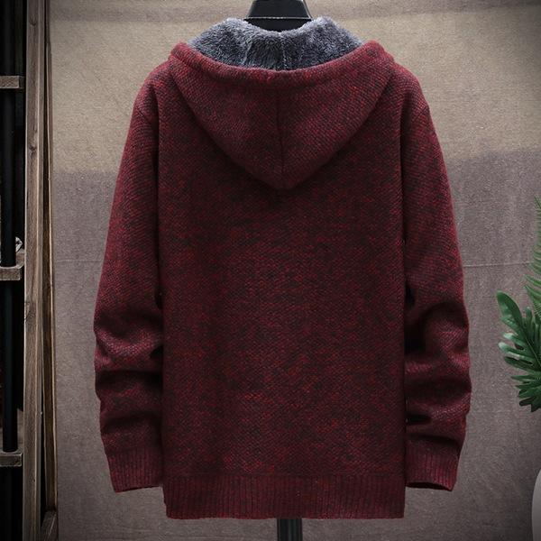Herrfärgad tröjajacka med dragkedja med dragkedja Dark gray M