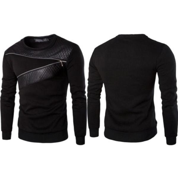 Herr Sport Pullover Sweatshirt Jumper Casual Blus Toppar Tee 3XL