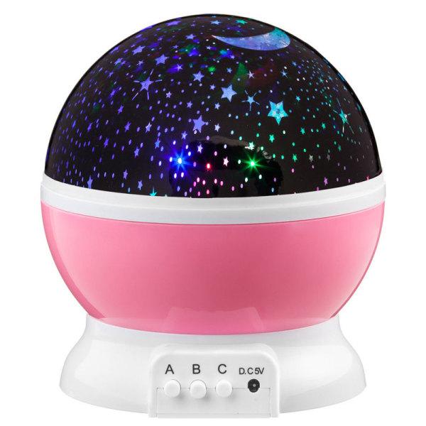 Mini Starry Ball Projection Lamp Night Chagable Lights Pink