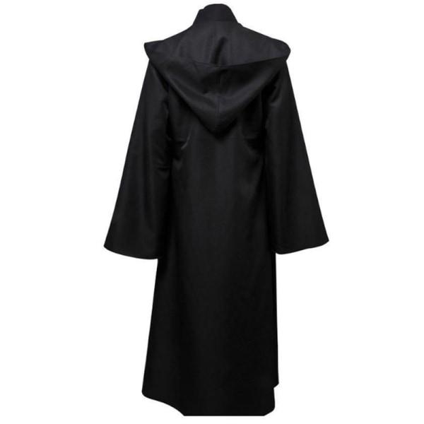Party Anime Cosplay Star Wars Jedi Cloak Creative Funny Dress Up Black S