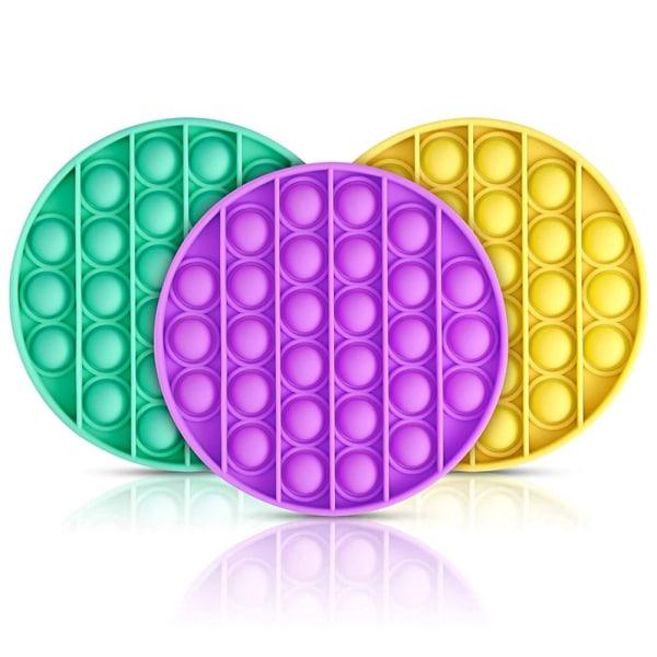 Pop it Fidget Toy Bubble Sensory Push Pop Toy  Family Toys Purple - Round