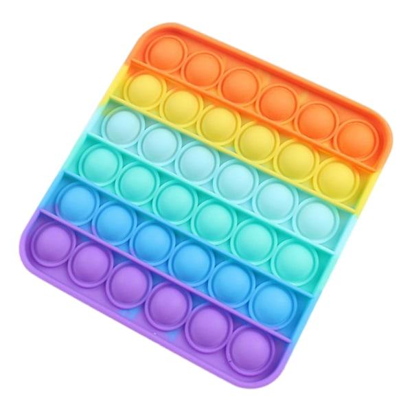 Pop it Sensorisk leksak Push Stressball gåvor Barn vuxen spel Multicolor - Square