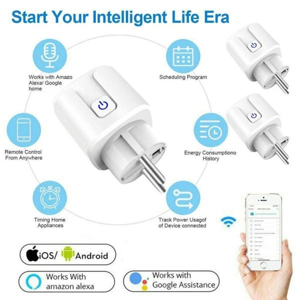 Smart Mini Smart Outlet Wifi Socket 4pcs 4pcs