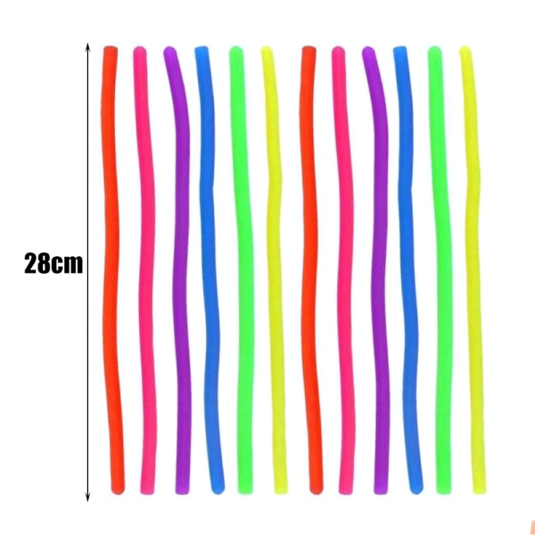 Stretchy Noodle String Neon Kids Children Fidget Sensory Toy Green 1pcs