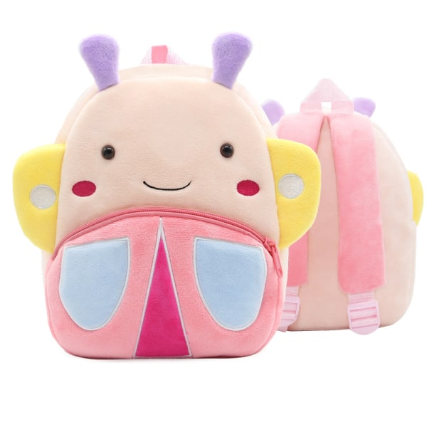 Småbarn ryggsäck plysch docka leksak skolväska