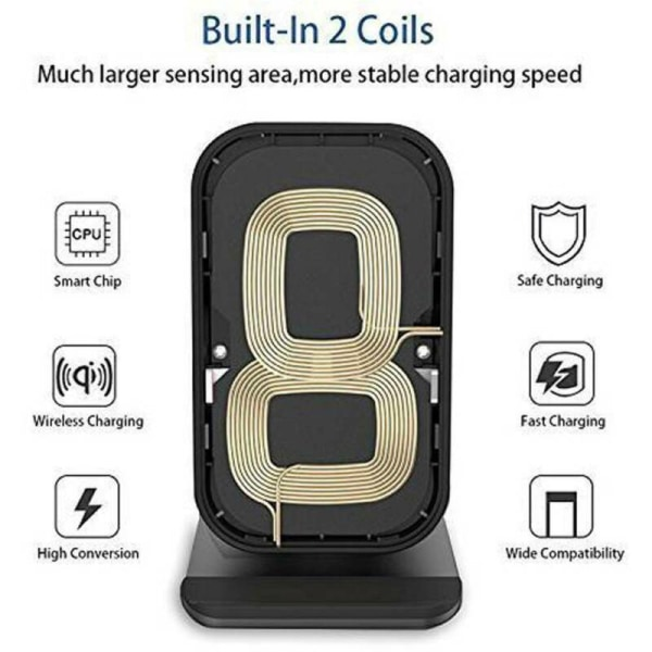UK Fast Wireless Charger Smart Clip Stand Charging Dock