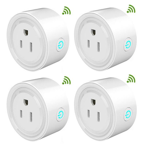 Voice Control Mini Smart Outlet Wifi Socket 2pcs 2pcs