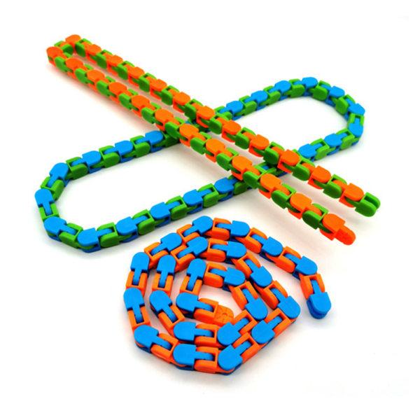 Wacky Tracks Snake Puzzles Cykelkedja Fidget Toy Orm Pussel