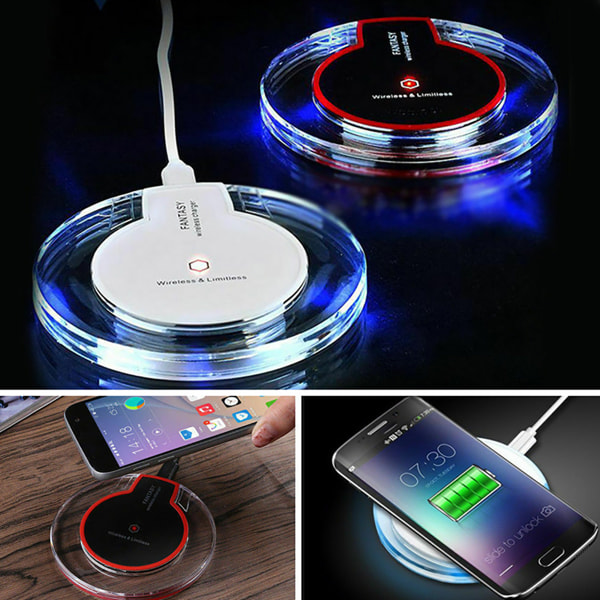 Wireless Charging Pad Slim Charger for Apple iphone White