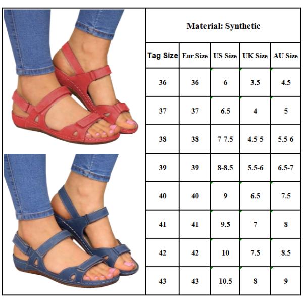 Kvinna Sommar Läder Vintage Sandaler Spänne Buckle