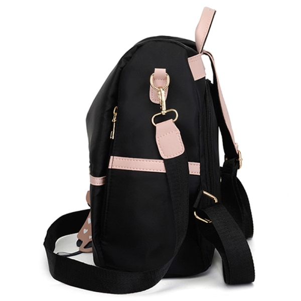 Women Bags Fashionable Backpack School Outdoors Large-capacity Black