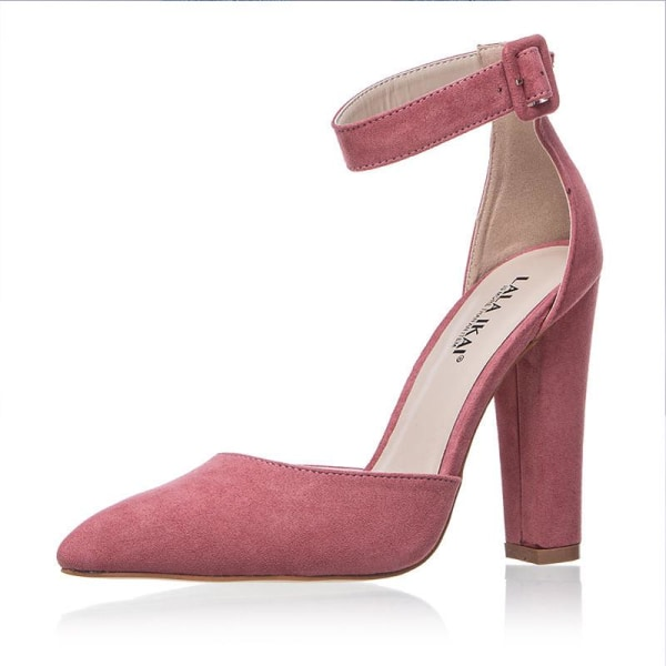 Women Pumps Ladies Solid Shoes Party Wedding pink 42