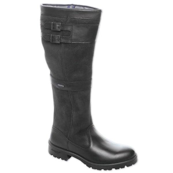 Kvinnor Retro knä höga platta stövlar vinter ridding skor svart