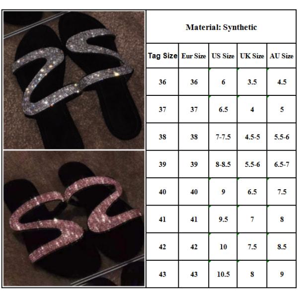 Tofflor för kvinnor Glitter Crystal Sandaler