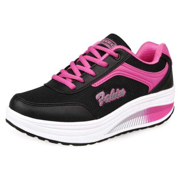 Dam Trainers Skor Fitness Löpning Sportsneakers Svart