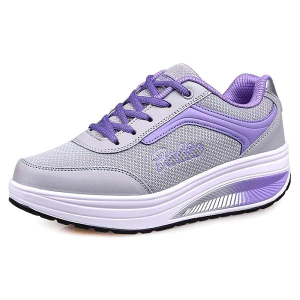 Kvinnor Trainers Skor Fitness Löpning Sportsneakers Lila