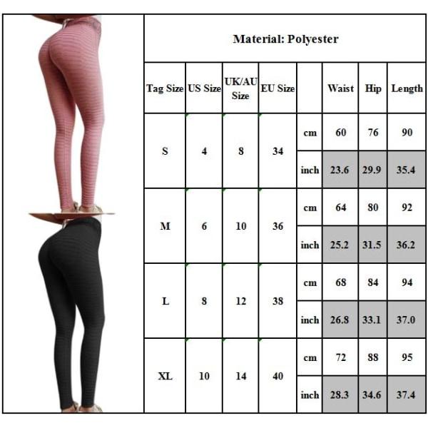 Women Workout Leggings Jacquard Yoga Pants Tummy Control Legging Grey XL