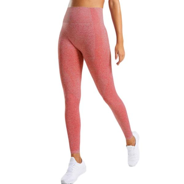 Kvinnors butteri mjuka hög midja yogabyxor full längd leggings Big Red S