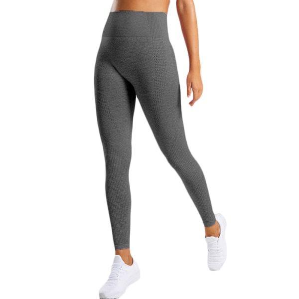 Kvinnors butteri mjuka hög midja yogabyxor full längd leggings Deep grey M