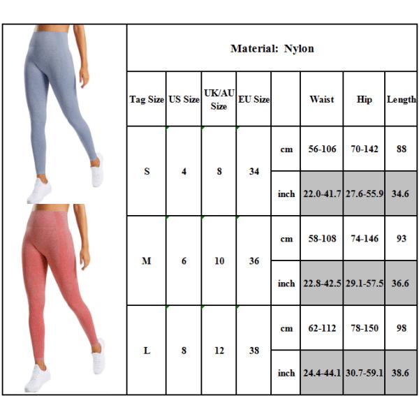 Kvinnors butteri mjuka hög midja yogabyxor full längd leggings Big Red M