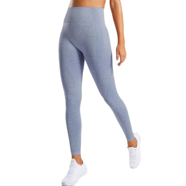 Kvinnors butteri mjuka hög midja yogabyxor full längd leggings Navy Blue S