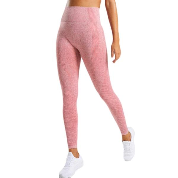 Kvinnors butteri mjuka hög midja yogabyxor full längd leggings Red L