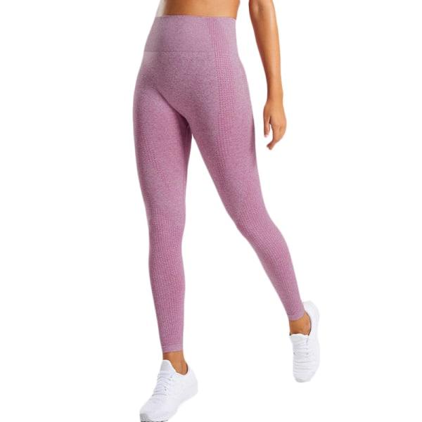 Kvinnors butteri mjuka hög midja yogabyxor full längd leggings Wine red M