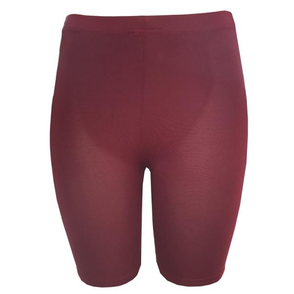 Yoga Leggings High Waisted Pants Women Tummy Control Leggings Wine red M