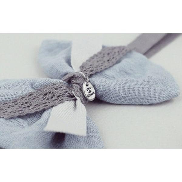 Babyhårband Rosett grå