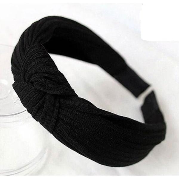 Diadem med Randig Struktur (svart)
