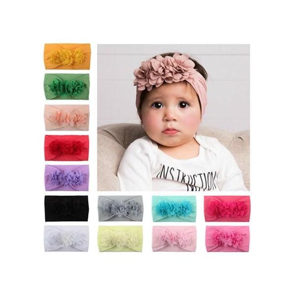 Hårband för baby/barn Blommor (vit) Vit