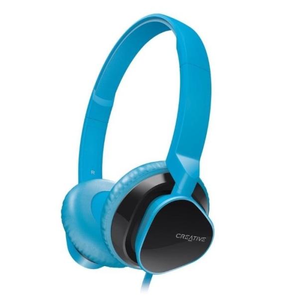 Creative HITZ Premium On-ear Headset för musik / samtal - Blå Blå