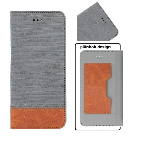Huawei P9 Lite Mini Toppkvalitet Mobilplånbok - Grå Grey