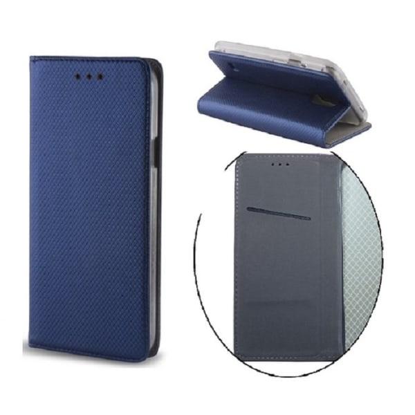Huawei P9 Lite Mini - Toppkvalitet Mobilplånbok - Mörkblå DarkBlue