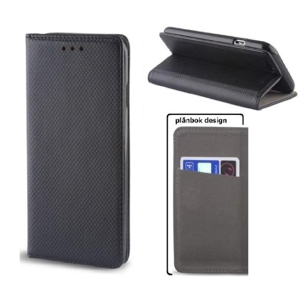 Motorola One Action - Smart Magnet Fodral Mobilplånbok -Svart Svart