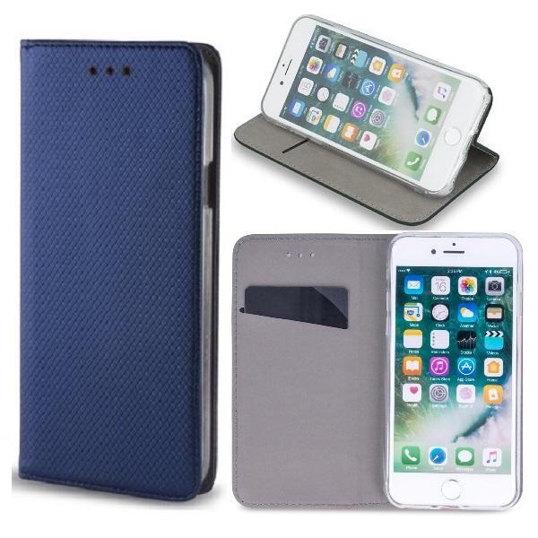 Motorola One Hyper - Smart Magnet Fodral Mobilplånbok - Marinblå Marinblå