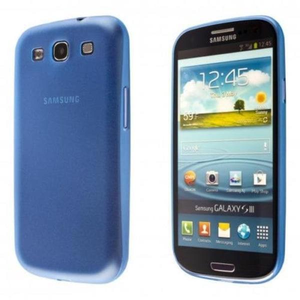 Samsung Galaxy S3 TPU Skal - Transparent Blå + Displayskydd