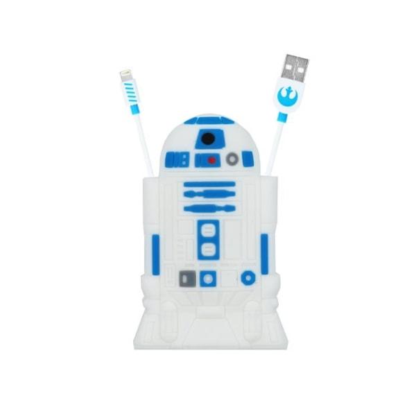 Star Wars R2D2 Lightning kabel för iPhone iPad iPod Vit