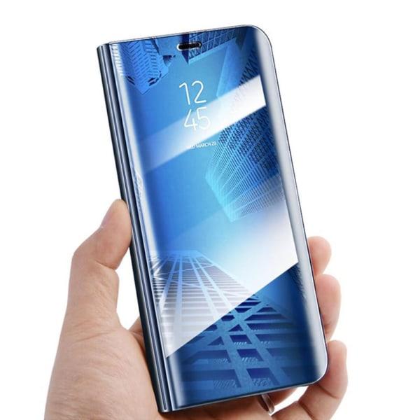 Xiaomi Redmi Note 9 - Smart Clear View Fodral - Blå Blue