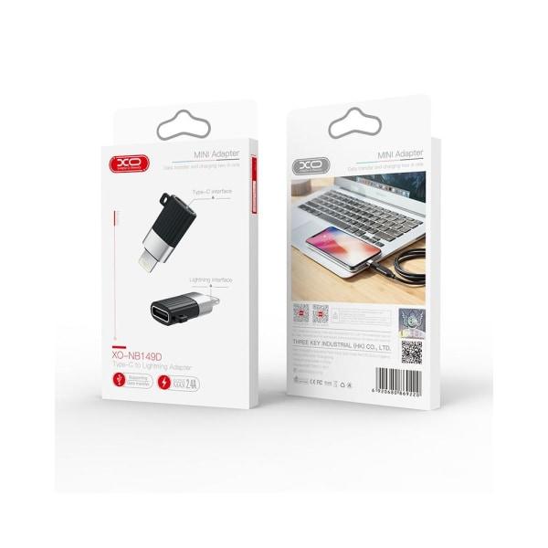 USB-C / Typ-C till Lightning Adapter - Laddning / Dataöverföring Svart