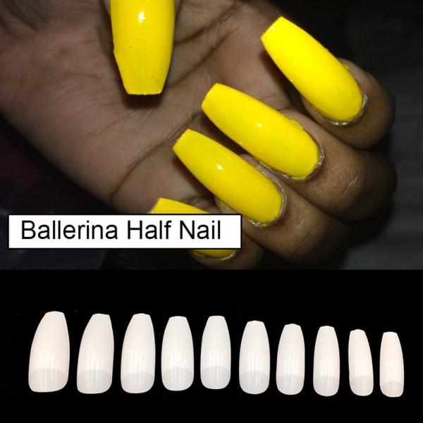 100st / låda Falska nagelspetsar Kista Fake Nails 100PCS-WHITE
