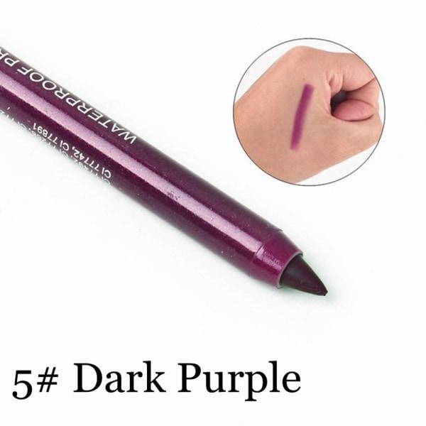 2 st Eyeliner Pencil Färgglatt pigment MÖRK LILLA