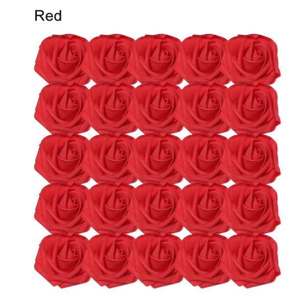 Artificial Foam Flowers Fake Roses Bridal Bouquet RED 25PCS red 25pcs